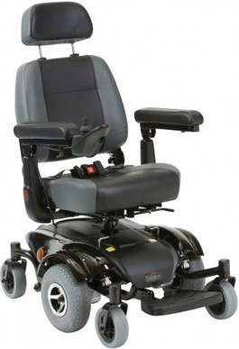 Compact Narrow Wheelchair With 6 Grey Wheels