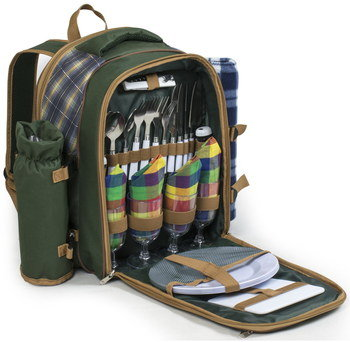 Picnic Hamper Rucksack With Front Utensil Area
