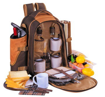 Cool Bag Rucksack 4 Persons With Plates