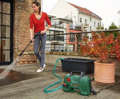Jet Patio Washer In Green On Decking