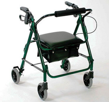Mobility Walker With Seat In All Black