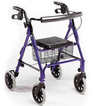 Rollator Walker With Seat And 4 Big Wheels