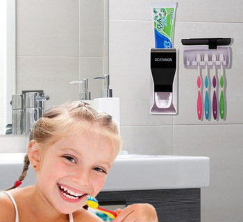 Hygienic Tooth Brush Holder Used By Girl