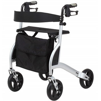 Walking Aid Trolley With Seat And Handle Brakes