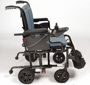 Fold-Up Powered Wheelchair With 4 Big Wheels