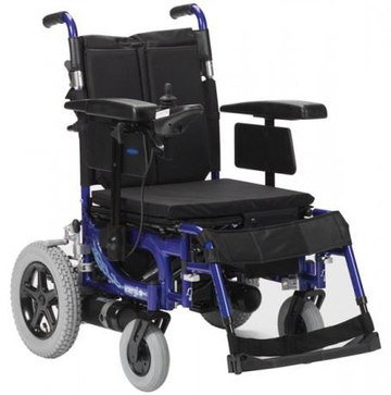 Mobility Motorised Wheelchair With Blue Frame