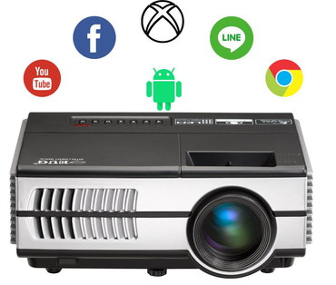HD LED Projector With Glass Lens