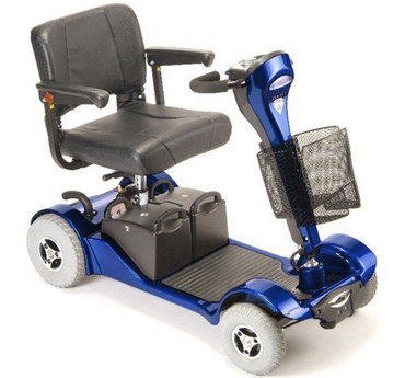 Padded Seat Disability Scooter In Blue Finish
