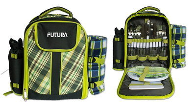 4 Person Cool Bag Backpack In Black And Yellow