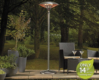 High Power Halogen Patio Heater With Long Steel Shaft