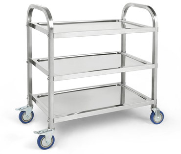 Kitchen Trolley On Wheels With 3 Levels
