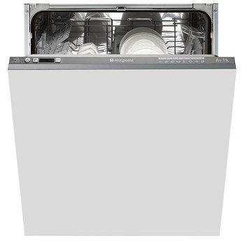 Integrated Full Size Dishwasher With Grey Open Door