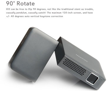 Mini LED Projector 1080p In Grey Metal Finish