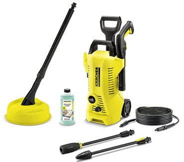 Power Pressure Washer With Long Black Hose