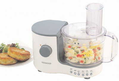 Steel Blade Food Processor With See-Through Container