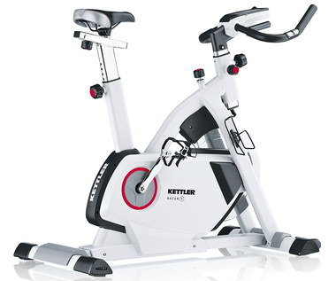 Indoor Small Exercise Bike With Black Handle Bars