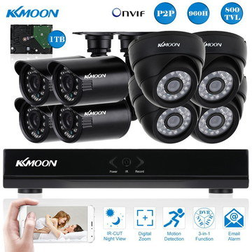 8 Channel Surveillance CCTV 4 Dome Shaped Cameras