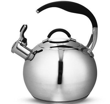 Stove Top Whistling Kettle With Curved Grip