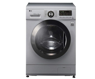 Big Drum 8Kg Washing Machine In Silver Black