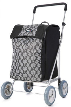 Stylish Four Wheel Shopping Trolley With Front Pattern