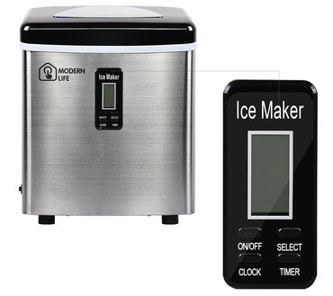Modern Style Small Ice Machine With Black Remote