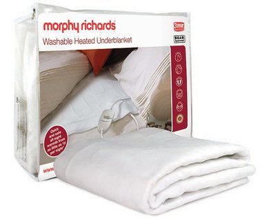 Soft Double Bed Electric Blanket In White