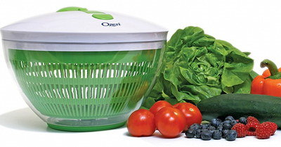 4L Plastic Salad Spinner In Green