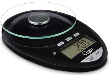 kitchen scales that weigh grams with glass dish