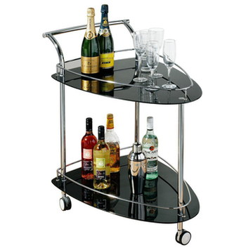 Small Mobile Drink Cart In Black