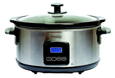 Large Slow Cooker With Blue LED