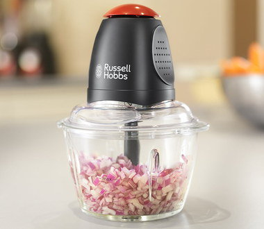 Chic Food Chopper Machine In Black And Red