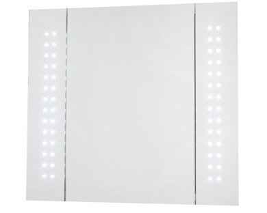 Demister Mirrored Bathroom Cabinet In Smooth LED Style