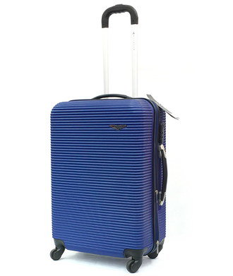 Hard Shell Suitcase With Long Black Handle