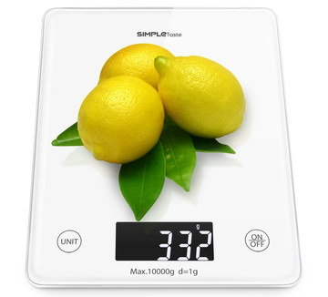 LCD Glass Small Kitchen Scale With White Digits