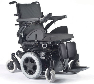 Indoors Outdoors Power Wheelchair With Padded Black Seat