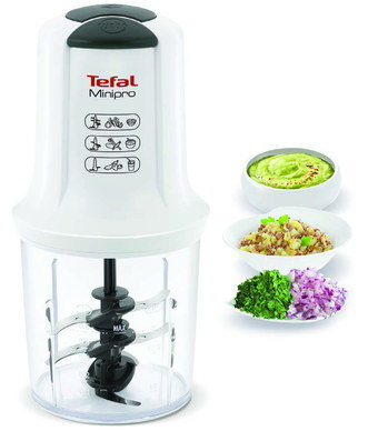Dual Blade Mini Food Blender In White Finish