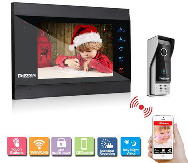 Video Wireless Intercom System With Touch Buttons