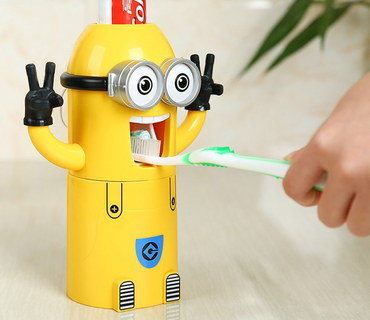 Kids Auto Toothpaste Dispenser In Yellow