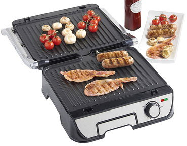 Grill With Removable Plates And Heat Dial