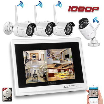Wireless Domestic CCTV Showing Tablet PC