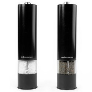 A.James Electric Salt Pepper Grinder With Light In Black And Grey