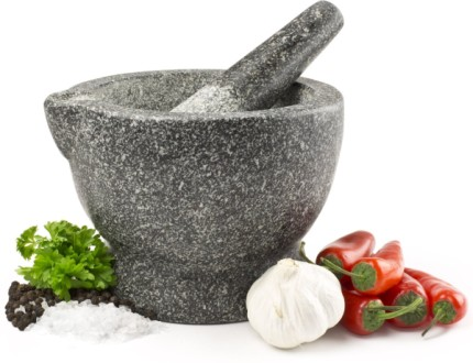 Granite Pestle And Mortar With Spout
