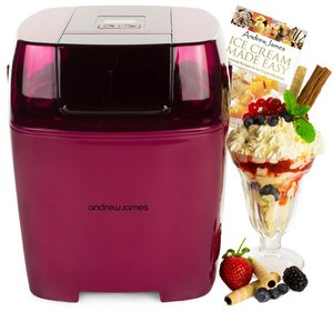 Plum Colour Ice Cream Machine With Knickerbocker Glory
