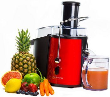Noiseless Power Juicer In Bright Red And Black Exterior