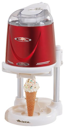 Ice Cream Maker In Red And White Exterior