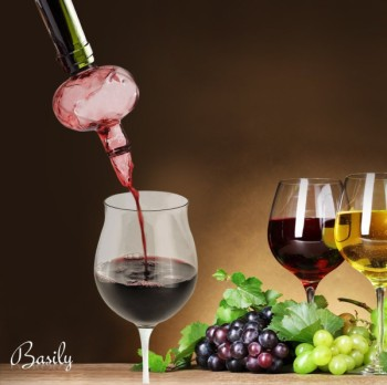 Basily Exciting Wine Aerator Pouring In To Glass