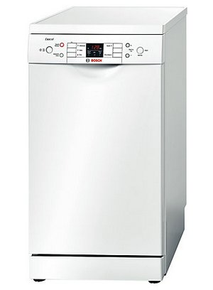 Bosch Exxcel Fast Wash SPS53E12GB Slim Dishwasher With Black Control Panel