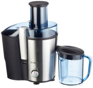 Steel Fruit Juicer In Black And Transparent Plastic
