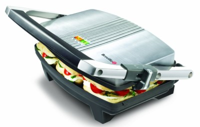 Deep Fill Toastie Press In Black And Steel Exterior