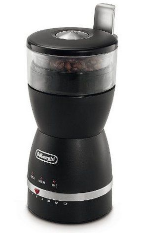 12 Cup Electric Coffee Grinder In Black Exterior